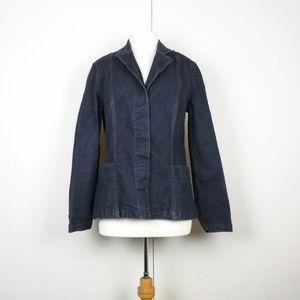 Calvin Klein Dark Blue Paneled Blazer Jacket L